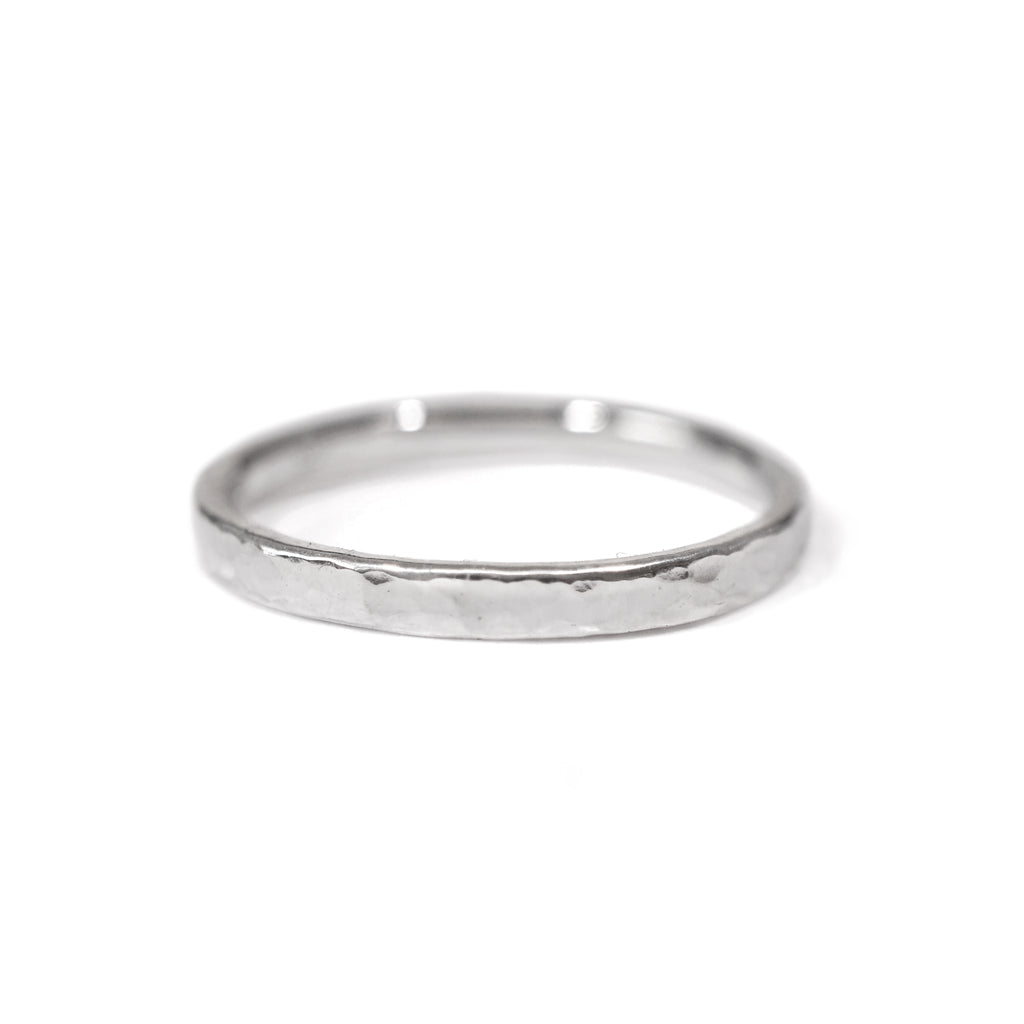 Essential Hammered Ring in Sterling Silver