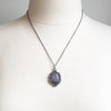 Purple Chalcedony Eye of Protection Necklace in Sterling Silver