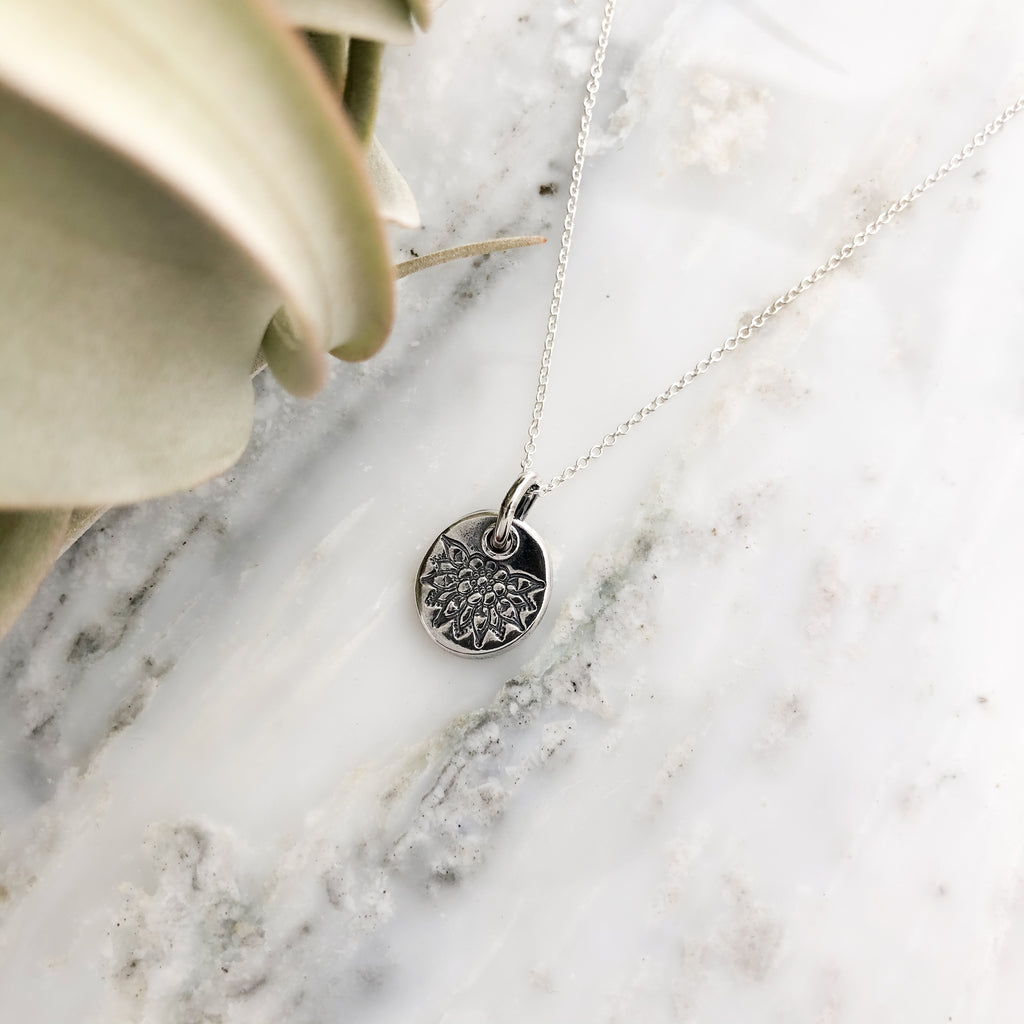 Floral Bloom Necklace in Sterling Silver