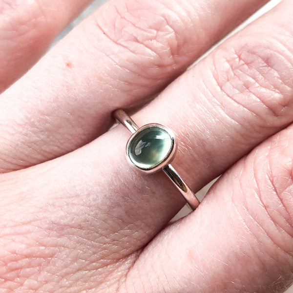 Prehnite Ring in Sterling Silver Size 7.5