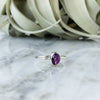 Amethyst Ring in Sterling Silver - Size 9