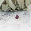 Faceted Ruby Ring in Sterling Silver - Size 9