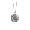 Sage Tourmaline Boutique Necklace in Sterling Silver