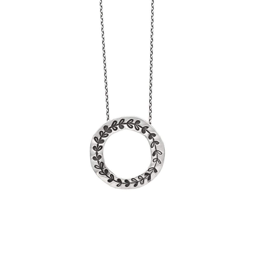 Wreath Necklace in Sterling Silver