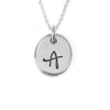 Initial Pendant Necklace in Sterling Silver