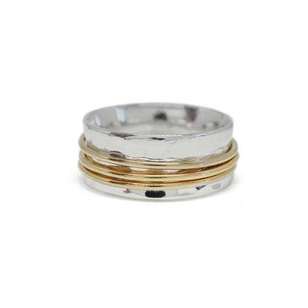 Spinner Ring in Sterling Silver and Gold-Filled