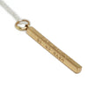 Personalized Vertical Bar Necklace in Bronze
