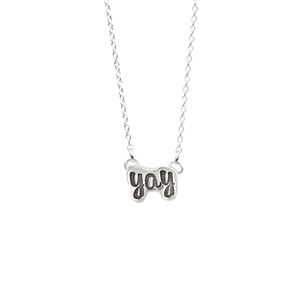Yay Necklace in Sterling Silver