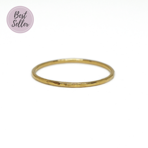 Hammered Whisper Ring in Gold-Filled