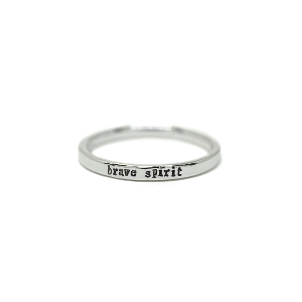 Tiny Message Rings in Sterling Silver