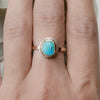 Sleeping Beauty Turquoise Ring in Sterling Silver & 14K Gold