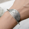 Boutique Half Moon Cuff Bracelet in Sterling Silver