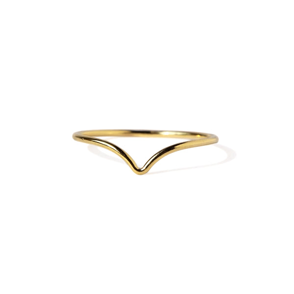 Chevron Ring in Gold-Filled