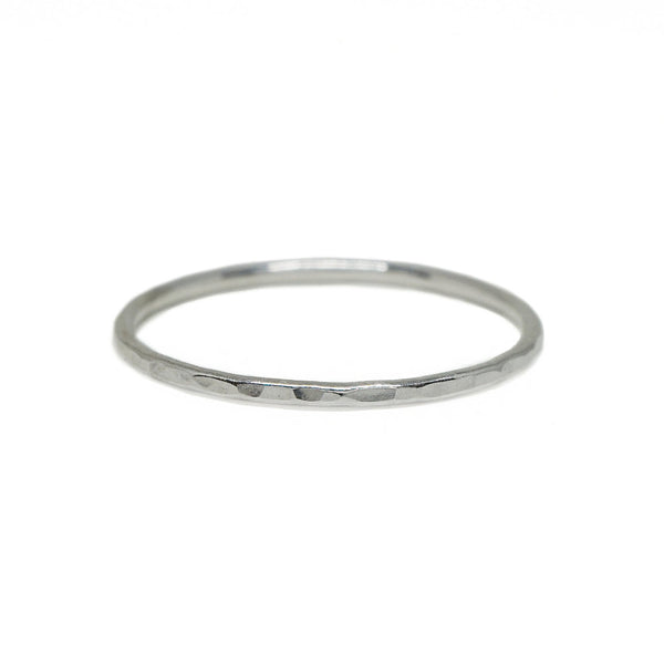 Hammered Whisper Ring in Sterling Silver