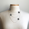 "Small Chain Necklace - Oxidized Finish in 16"", 18"", 20"" & 24"""