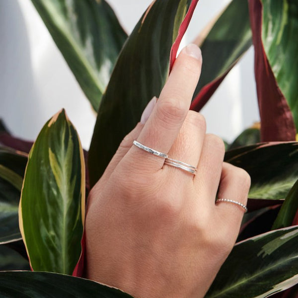 I'm Speaking - Tiny Message Ring in Sterling Silver