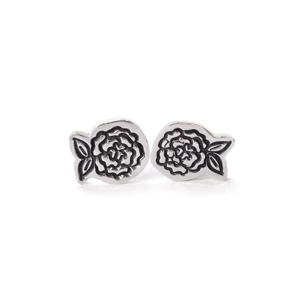 Flowers Post Earrings in Sterling Silver