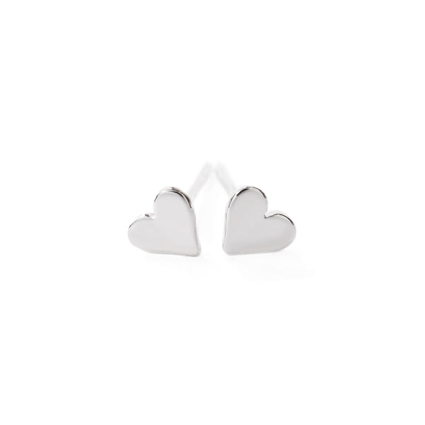Hearts Post Earrings in Sterling Silver
