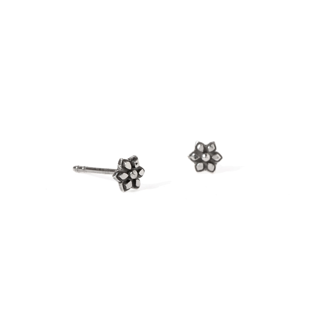 Star Post Earrings in Sterling Silver