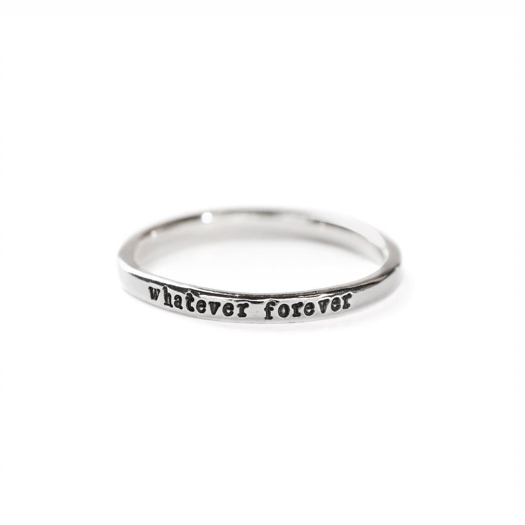 Whatever Forever - Tiny Message Ring in Sterling Silver