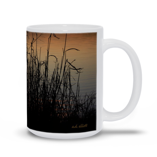 The photograph Sunset Through Wild Grass Jan 2020 imprinted on a 15 oz coffee mug.  Add a bit of brightness to the morning routine with one of our high quality, dishwasher and microwave safe classic mugs made from quality ceramic with a comfortable handle.