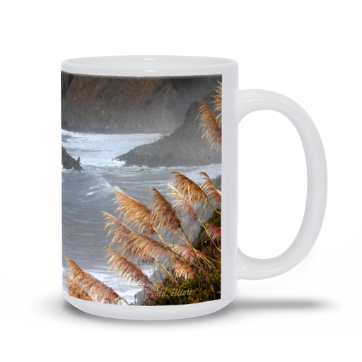 The photograph Autumn on the Pacific imprinted on a coffee mug.  Add a bit of brightness to the morning routine with one of our high quality, dishwasher and microwave safe classic mugs made from quality ceramic with a comfortable handle.