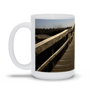 "generated-proPreview-0The photograph ""Path to the Atlantic 2021"" imprinted on a white, 15oz coffee mug.  Add a bit of brightness to the morning routine with one of our high-quality, dishwasher and microwave-safe classic mugs made from quality ceramic with a comfortable handle."