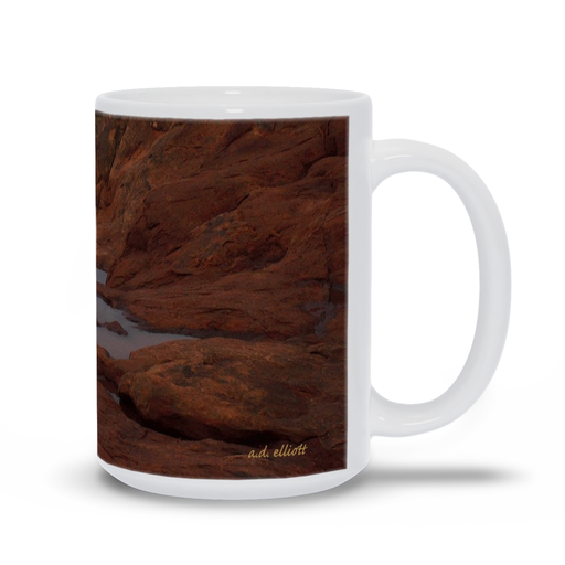 The photograph Arches in the Rain imprinted on a coffee mug.  Add a bit of brightness to the morning routine with one of our high quality, dishwasher and microwave safe classic mugs made from quality ceramic with a comfortable handle.