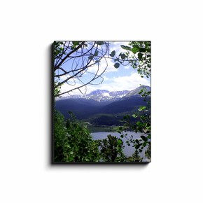 A photograph of Goose Pasture Tarn near Boreas Pass and Breckenridge Colorado. Taken by the Arkansas photographer a.d. elliott #TaketheBackRoads  Printed on high quality, artist-grade stock and folded around a lightweight frame to give them a gorgeous, gallery-ready appearance. With acid-free ink that will last without fading or chipping, Features a scratch-resistant UV coating. Wipes clean easily with a damp cloth or to remove dust, vacuum gently using a soft brush attachment.