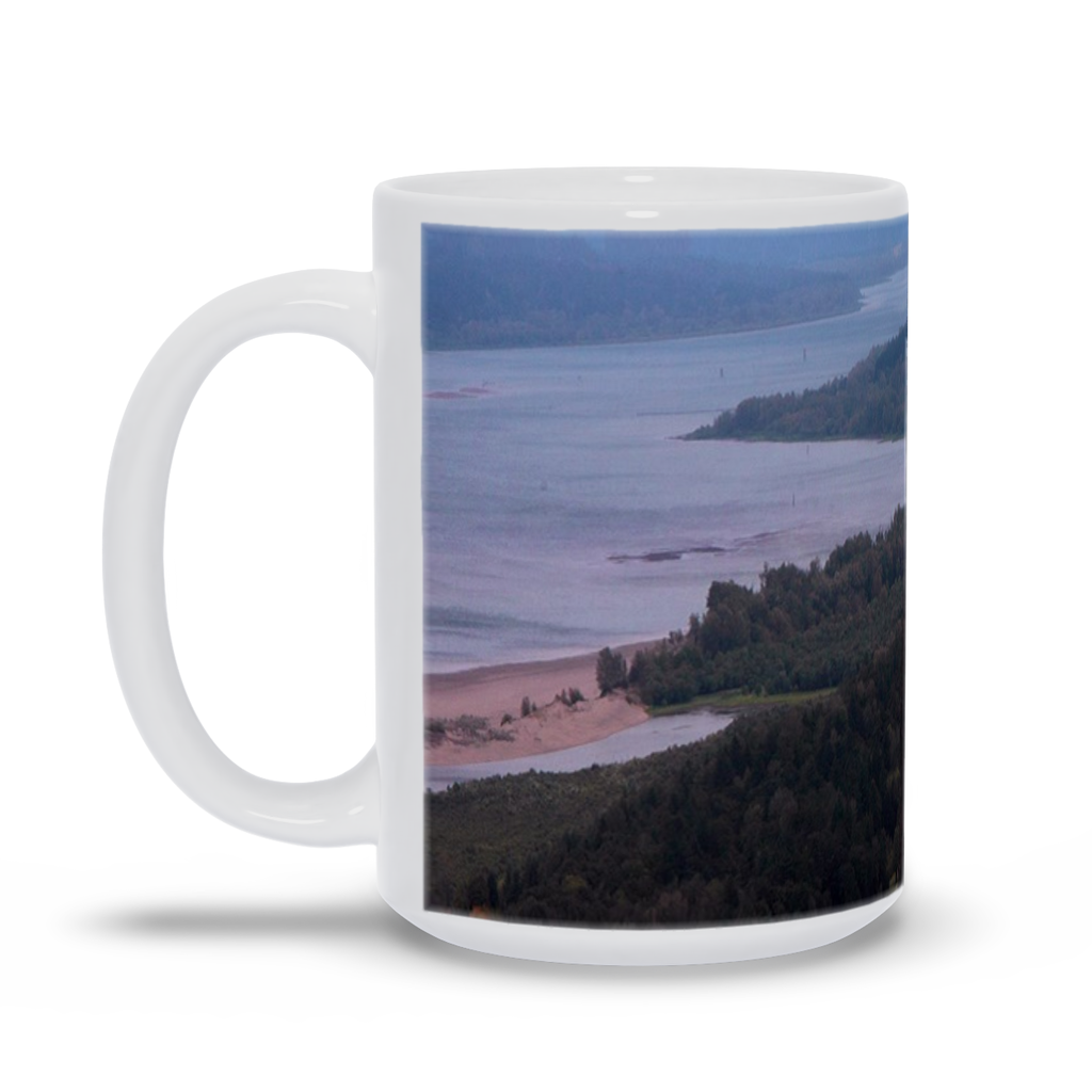 A coffee mug imprinted with the photograph Vista House  Add a bit of brightness to the morning routine with one of our high quality, dishwasher and microwave safe classic mugs made from quality ceramic with a comfortable handle.