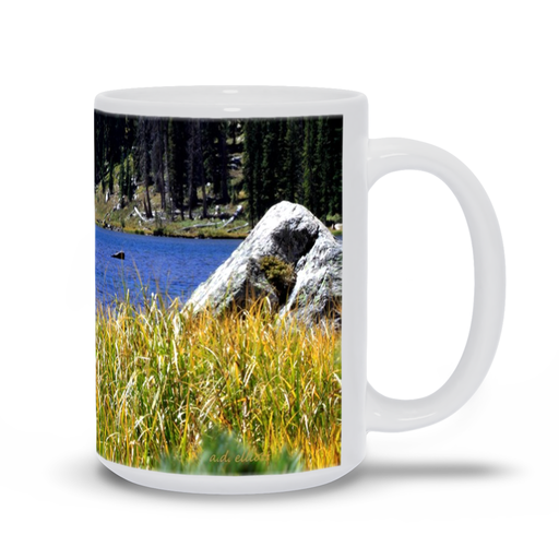 The photograph Diamond Lake 3 imprinted on a 15 oz coffee mug.  Add a bit of brightness to the morning routine with one of our high quality, dishwasher, and microwave safe classic mugs made from quality ceramic with a comfortable handle.