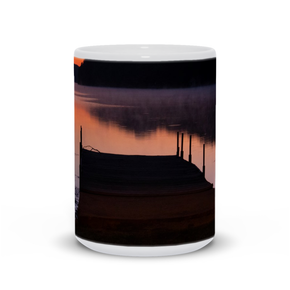 The photograph Tiree Dock imprinted on a 15oz mug.  Add a bit of brightness to the morning routine with one of our high quality, dishwasher and microwave safe classic mugs made from quality ceramic with a comfortable handle.