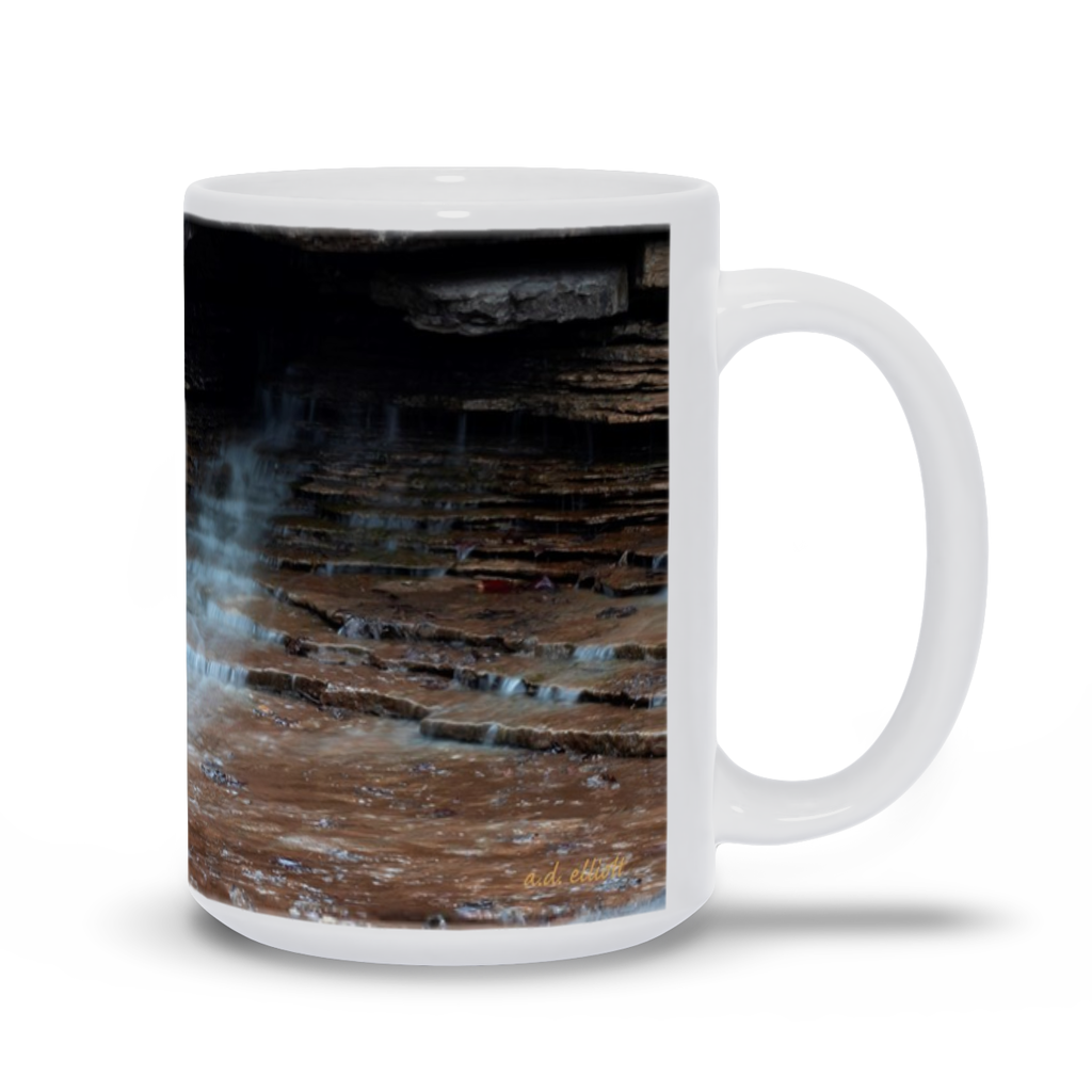 The photograph Pinion Creek Jan 2020 imprinted on a 15oz coffee mug.  Add a bit of brightness to the morning routine with one of our high quality, dishwasher and microwave safe classic mugs made from quality ceramic with a comfortable handle.