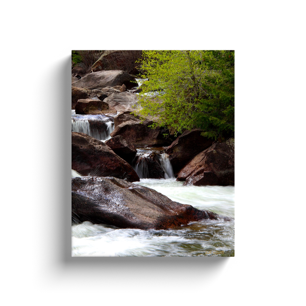 A long exposure photograph of South Boulder Creek at Eldorado Canyon State Park Colorado. Taken by the Arkansas Photographer a.d. elliott.  Printed on high quality, artist-grade stock and folded around a lightweight frame to give them a gorgeous, gallery-ready appearance. With acid-free ink that will last without fading or chipping, Features a scratch-resistant UV coating. Wipes clean easily with a damp cloth or to remove dust, vacuum gently using a soft brush attachment.