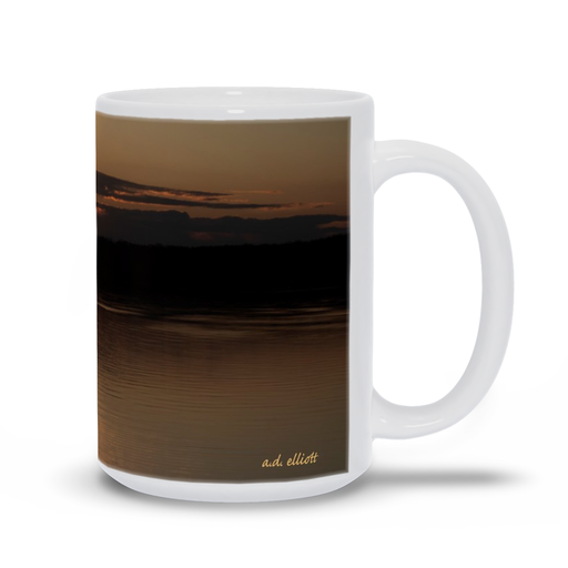 The photograph Sunset Loch Lomond Dam 2020 imprinted on a 15oz coffee mug.  Add a bit of brightness to the morning routine with one of our high quality, dishwasher and microwave safe classic mugs made from quality ceramic with a comfortable handle.