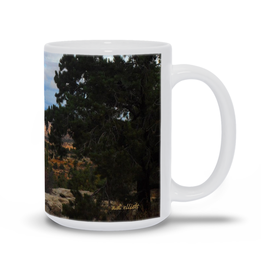 The photograph Devil's Canyon imprinted on a 15 oz coffee mug.  Add a bit of brightness to the morning routine with one of our high quality, dishwasher and microwave safe classic mugs made from quality ceramic with a comfortable handle.