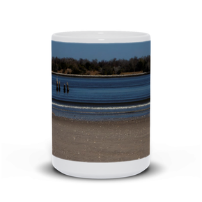"generated-proPreview-1The photograph ""Old North Pier"" imprinted on a white 15oz coffee mug.  Add a bit of brightness to the morning routine with one of our high-quality, dishwasher and microwave-safe classic mugs made from quality ceramic with a comfortable handle."