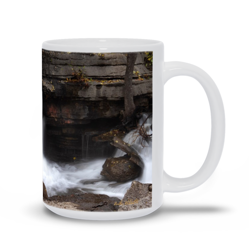 The photograph Upper Lake Ann Falls Nov 2019 imprinted on a coffee mug.  Add a bit of brightness to the morning routine with one of our high quality, dishwasher and microwave safe classic mugs made from quality ceramic with a comfortable handle.