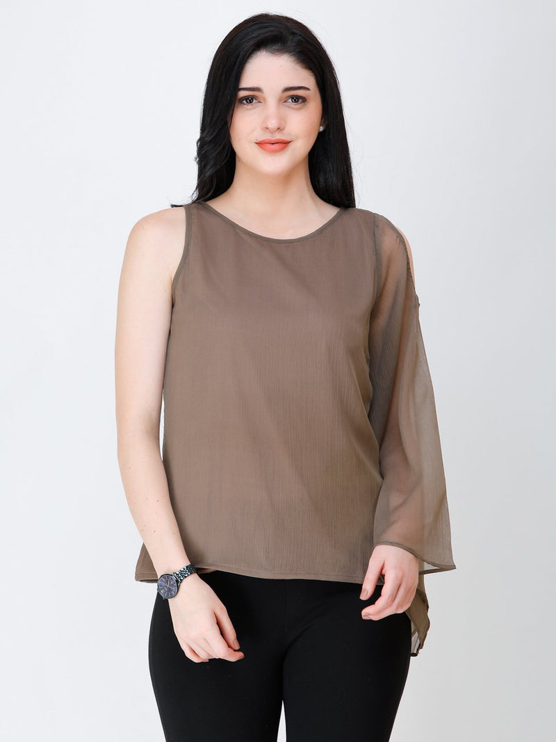 SCORPIUS one shoulder solid top
