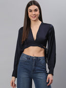 Designer Solid Navy Top