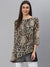 Designer Brown Cheetah Print Tunic