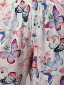 Cation White Butterfly Print Night Suit