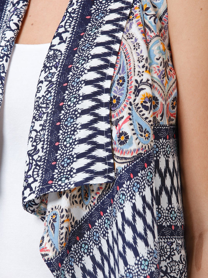 White printed shrug