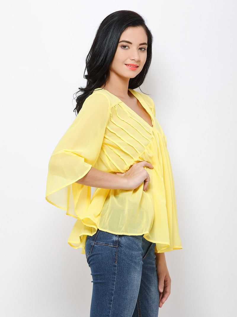 yellow solid top