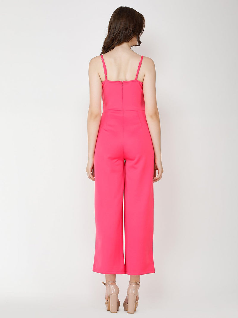 Pink Solid Jumpsuit