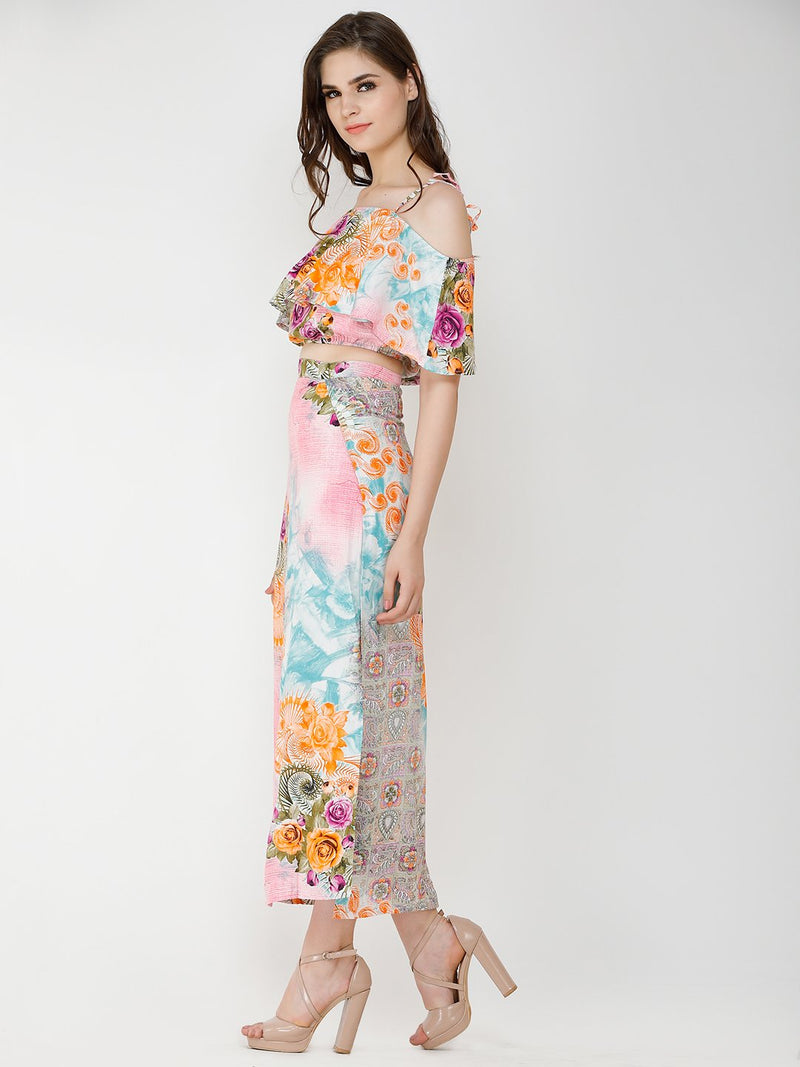 Multicolour Printed Clothing Set