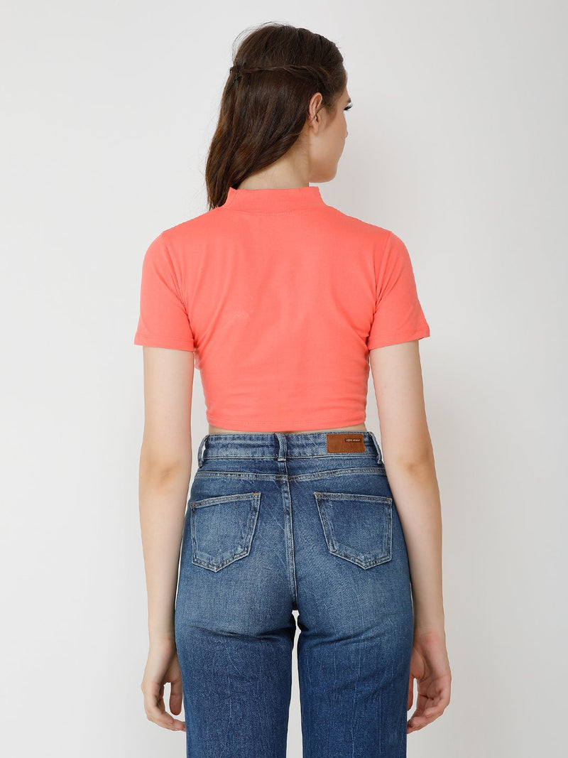 coral solid top