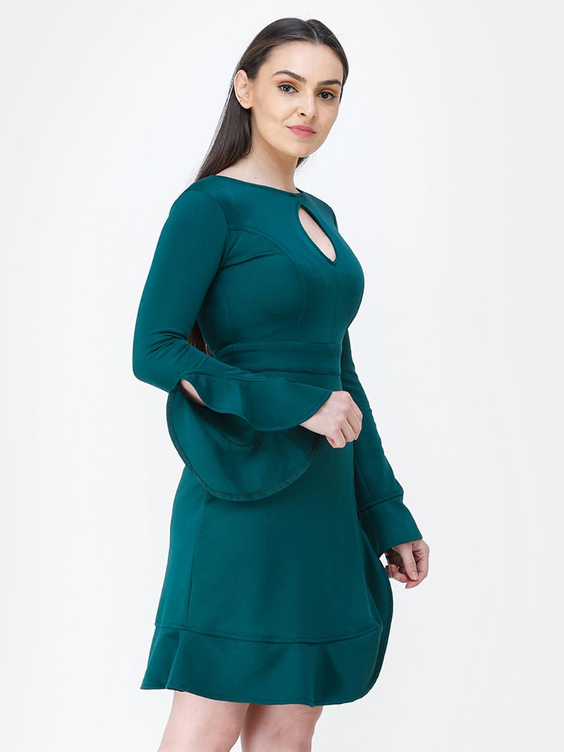 Solid Green Dress