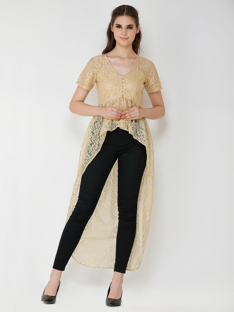 Golden Lace Tunic