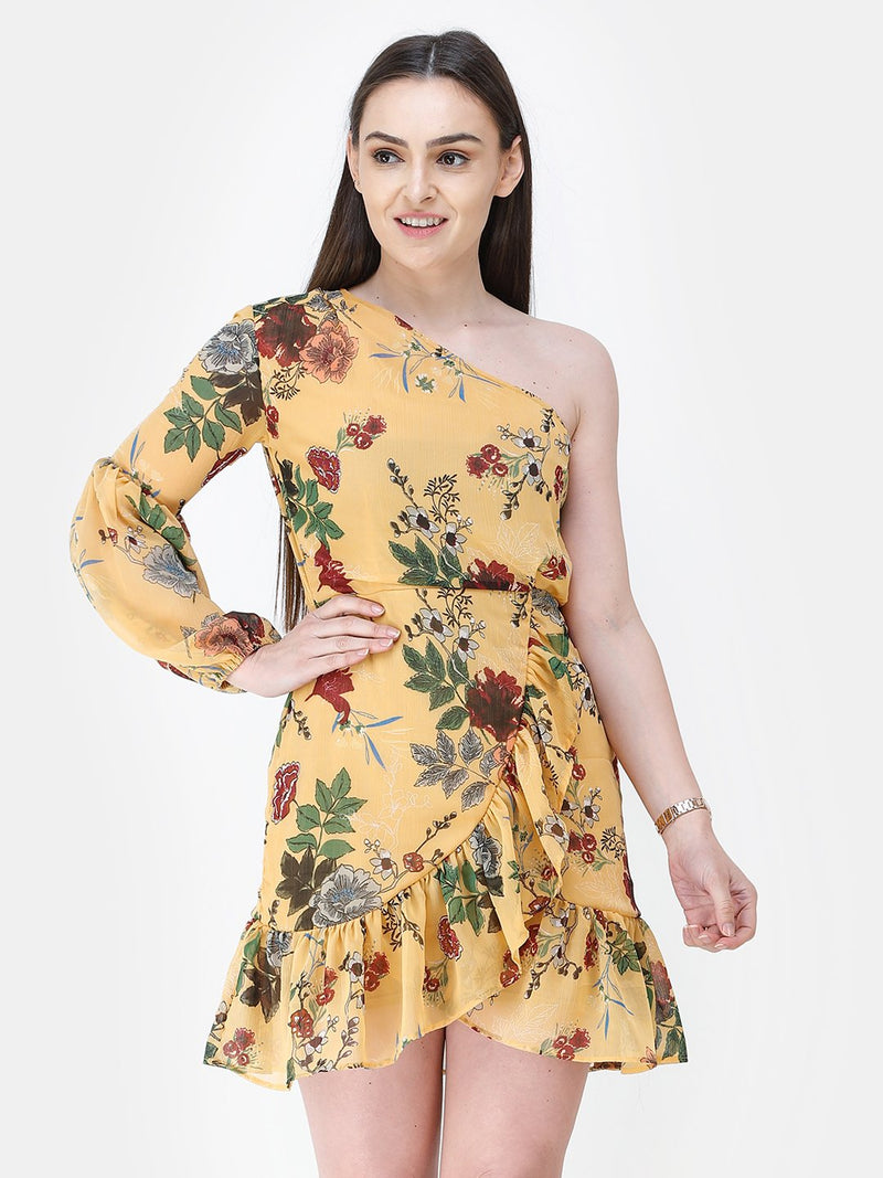 Yellow Printed Dress